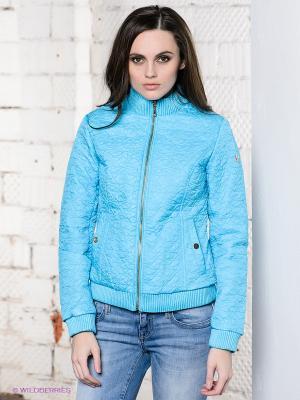 Куртка CONVER. Цвет: голубой