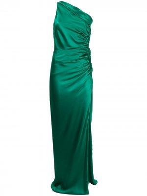Платье асимметричного кроя Michelle Mason. Цвет: зеленый