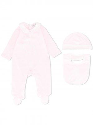 Подарочный комплект из трех предметов с логотипом Dolce & Gabbana Kids. Цвет: розовый