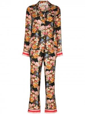 Пижама Eden с цветочным принтом Borgo De Nor. Цвет: розовый