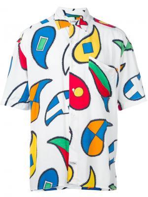 Рубашка с геометрическим принтом JC de Castelbajac Pre-Owned. Цвет: белый