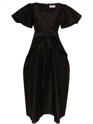Платье Jayda с объемными рукавами Preen By Thornton Bregazzi. Цвет: черный