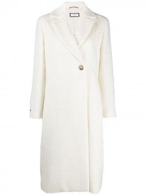 Однобортное пальто Peserico. Цвет: белый