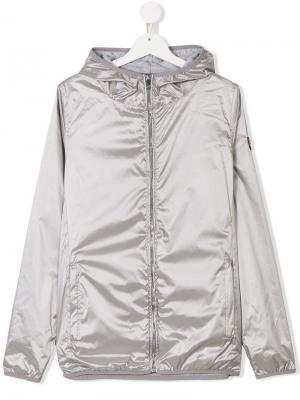 Куртка на молнии с капюшоном Ciesse Piumini Junior. Цвет: серый