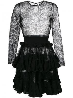Lace embroidered flared dress Antonino Valenti. Цвет: чёрный