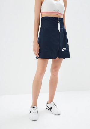 Юбка Nike. Цвет: синий
