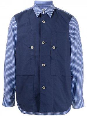 Рубашка в полоску Junya Watanabe. Цвет: синий