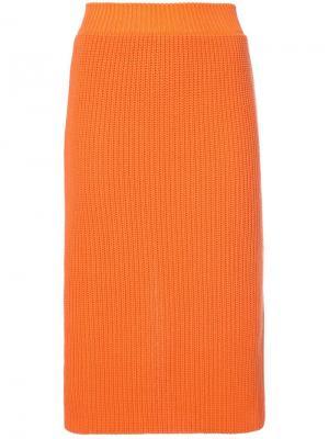 Вязаная юбка Calvin Klein 205W39nyc. Цвет: желтый