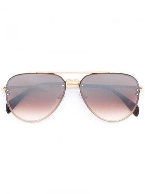 Солнцезащитные очки Mirror Small Céline Eyewear. Цвет: металлик