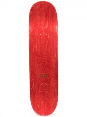 Скейтборд Rassvet 7 с принтом PACCBET. Цвет: красный