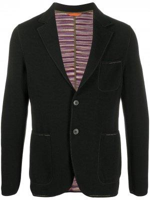 Пиджак на пуговицах Missoni. Цвет: черный