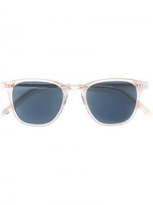 Солнцезащитные очки Brooks Garrett Leight. Цвет: желтый