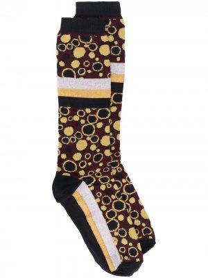Носки с узором Marni. Цвет: желтый