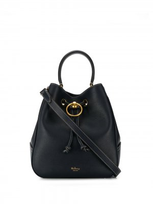 Сумка-ведро Hampstead со шнурком Mulberry. Цвет: синий