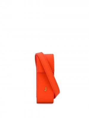 Мини-сумка Le Porte Rouge à Lèvres Jacquemus. Цвет: оранжевый