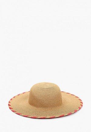 Шляпа Pieces. Цвет: бежевый