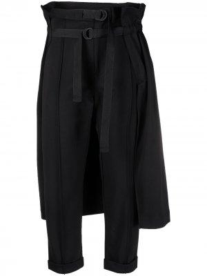 Брюки с юбкой Y-3. Цвет: черный