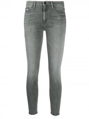 Укороченные джинсы скинни Mother. Цвет: серый