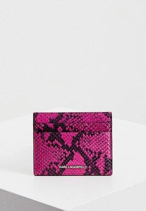 Визитница Karl Lagerfeld. Цвет: розовый