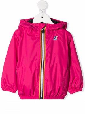 Куртка с капюшоном и логотипом K Way Kids. Цвет: розовый