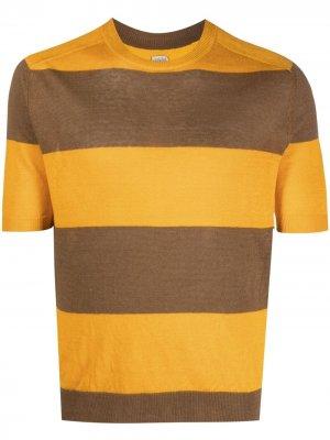 Трикотажная футболка в полоску Eleventy. Цвет: нейтральные цвета