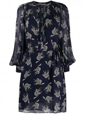 Платье мини с принтом Dorothee Schumacher. Цвет: синий
