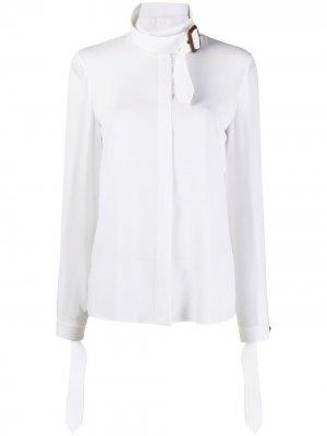 Рубашка с поясом Michael Kors. Цвет: белый