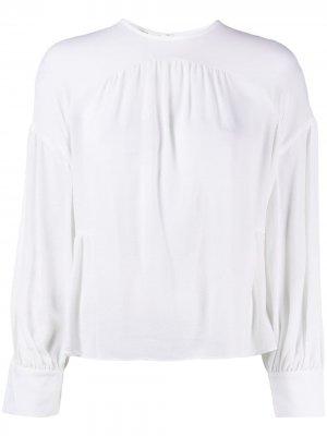 Блузка со сборками Vince. Цвет: белый