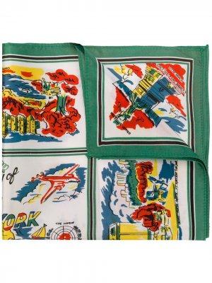 Платок с принтом NYC Comme Des Garçons Pre-Owned. Цвет: зеленый