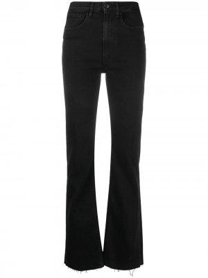 Прямые джинсы средней посадки 3x1. Цвет: черный