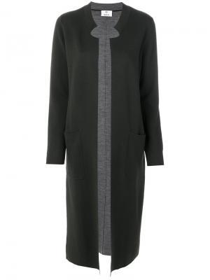Длинное пальто Allude. Цвет: зелёный