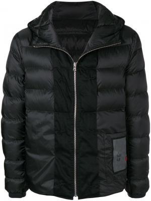 Пуховая куртка с капюшоном Ten C. Цвет: черный