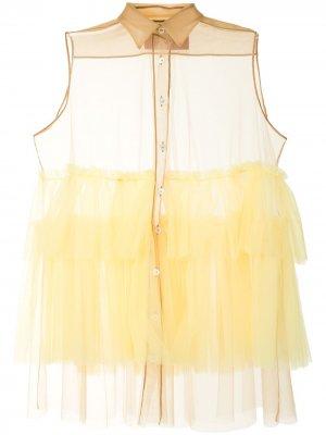 Блузка с оборками Viktor & Rolf. Цвет: желтый