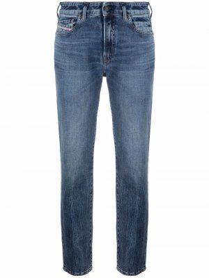 Зауженные джинсы D-Joy Diesel. Цвет: синий