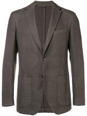 Tri-pocket blazer Altea. Цвет: коричневый