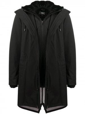 Пальто Vincent с капюшоном Mackage. Цвет: черный