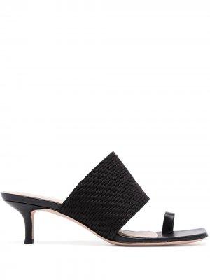 Босоножки Crenn на каблуке-рюмке Veronica Beard. Цвет: черный