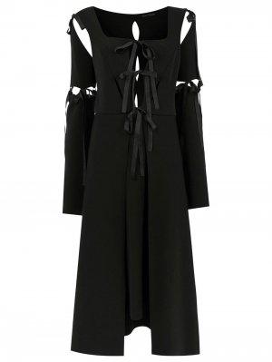 Midi panelled dress Gloria Coelho. Цвет: черный