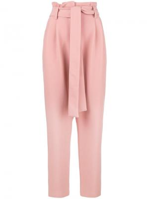 Belted high waisted trousers Roberto Collina. Цвет: розовый