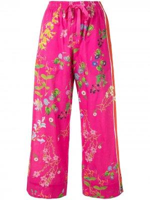 Пижамные брюки с цветочным принтом Cynthia Rowley. Цвет: розовый