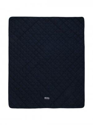 Стеганое одеяло с логотипом BOSS Kidswear. Цвет: синий