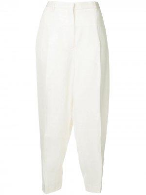 Зауженные брюки со складками Jil Sander. Цвет: белый