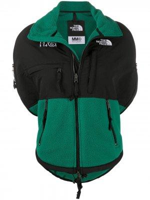 Флисовая куртка из коллаборации с  North Face MM6 Maison Margiela. Цвет: зеленый