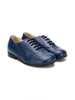 Однотонные туфли на шнуровке Pèpè. Цвет: синий
