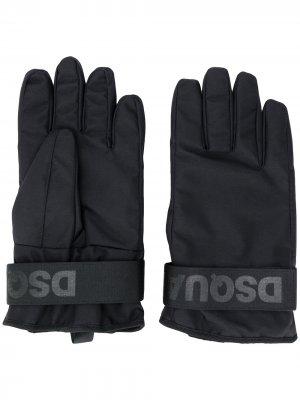 Перчатки с логотипом Dsquared2. Цвет: черный
