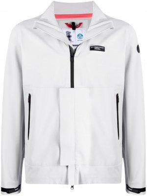 Куртка на молнии с нашивкой-логотипом North Sails. Цвет: серый