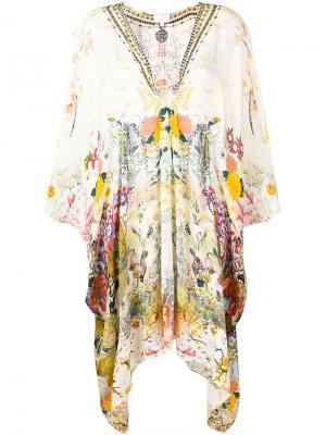 Printed longline tunic Camilla. Цвет: нейтральные цвета