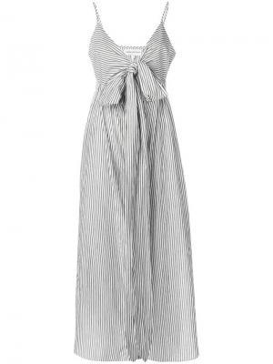 Платье Thora с бантом Mara Hoffman. Цвет: черный