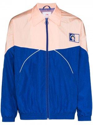 Спортивная куртка с вышивкой Li-Ning. Цвет: розовый