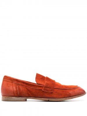 Лоферы с квадратным носком MOMA. Цвет: красный